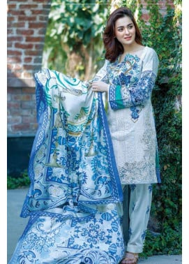 Firdous Fashion Embroidered Lawn Unstitched 3 Piece Suit FI17L 10