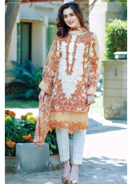 Firdous Fashion Embroidered Lawn Unstitched 3 Piece Suit FI17L 11
