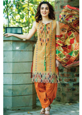 Firdous Fashion Embroidered Lawn Unstitched 3 Piece Suit FI17L 1A