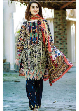 Firdous Fashion Embroidered Lawn Unstitched 3 Piece Suit FI17L 1B