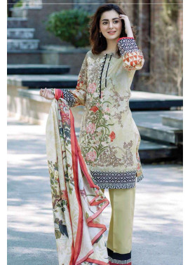 Firdous Fashion Embroidered Lawn Unstitched 3 Piece Suit FI17L 2A