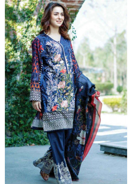 Firdous Fashion Embroidered Lawn Unstitched 3 Piece Suit FI17L 2B