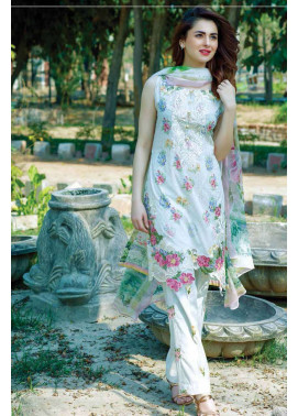 Firdous Fashion Embroidered Lawn Unstitched 3 Piece Suit FI17L 4A