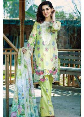 Firdous Fashion Embroidered Lawn Unstitched 3 Piece Suit FI17L 4B