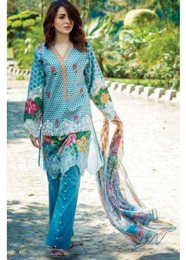 Firdous Fashion Embroidered Lawn Unstitched 3 Piece Suit FI17L 7A