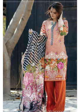Firdous Fashion Embroidered Lawn Unstitched 3 Piece Suit FI17L 7B