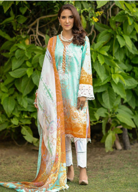 Fiore by Sheep Embroidered Lawn Unstitched 2 Piece Suit SH20F SL-009 - Spring / Summer Collection
