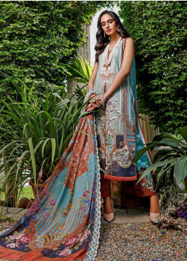 Firdous Fashion Embroidered Lawn Unstitched 3 Piece Suit FR20B EC-19446-B - Spring / Summer Collection