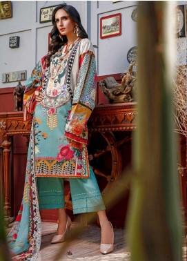 Firdous Fashion Embroidered Lawn Unstitched 3 Piece Suit FR20B EC-19449-A - Spring / Summer Collection