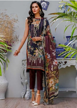 Firdous Fashion Embroidered Lawn Unstitched 3 Piece Suit FR20B EC-19453-B - Spring / Summer Collection