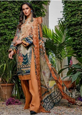 Firdous Fashion Embroidered Lawn Unstitched 3 Piece Suit FR20B EC-19457-B - Spring / Summer Collection