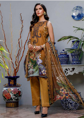 Firdous Fashion Embroidered Lawn Unstitched 3 Piece Suit FR20B EC-19463-A - Spring / Summer Collection