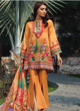 Firdous Fashion Printed Lawn Unstitched 3 Piece Suit FR20D 1106B - Spring / Summer Collection