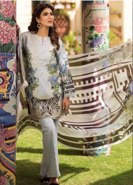 Firdous Fashion Embroidered Lawn Unstitched 3 Piece Suit FR19L 17 - Spring / Summer Collection