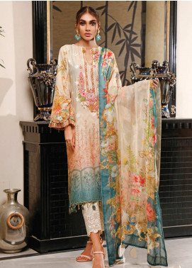 Firdous Fashion Embroidered Schiffli Unstitched 3 Piece Suit FR20SC 1202 - Festive Collection