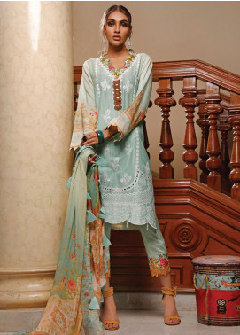 Firdous Fashion Embroidered Schiffli Unstitched 3 Piece Suit FR20SC 1204 - Festive Collection