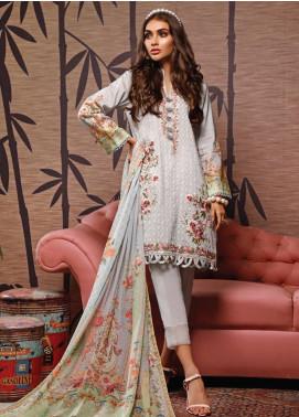 Firdous Fashion Embroidered Schiffli Unstitched 3 Piece Suit FR20SC 1209 - Festive Collection