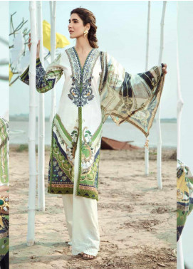 Firdous Fashion Embroidered Lawn Unstitched 3 Piece Suit FR20LS 19521 - Luxury Collection