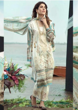 Firdous Fashion Embroidered Lawn Unstitched 3 Piece Suit FR20LS 19522 - Luxury Collection