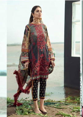 Firdous Fashion Embroidered Lawn Unstitched 3 Piece Suit FR20LS 19523 - Luxury Collection