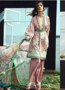 Firdous Fashion Embroidered Lawn Unstitched 3 Piece Suit FR20LS 19529 - Luxury Collection