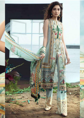 Firdous Fashion Embroidered Lawn Unstitched 3 Piece Suit FR20LS 19532 - Luxury Collection