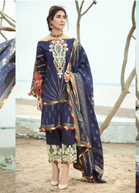 Firdous Fashion Embroidered Jacquard Unstitched 3 Piece Suit FR20LS 19542 - Luxury Collection