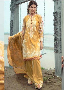 Firdous Fashion Embroidered Jacquard Unstitched 3 Piece Suit FR20LS 19544 - Luxury Collection