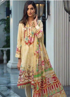 Firdous Fashion Printed Lawn Unstitched 3 Piece Suit FR20L-2 703B - Spring / Summer Collection