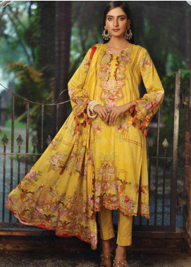 Firdous Fashion Printed Lawn Unstitched 3 Piece Suit FR20L-2 724B - Spring / Summer Collection