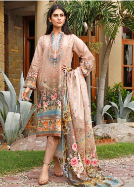 Firdous Fashion Printed Cambric Unstitched 3 Piece Suit FF19W 11A - Winter Collection