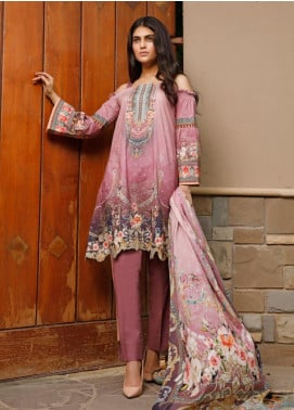 Firdous Fashion Printed Cambric Unstitched 3 Piece Suit FF19W 11B - Winter Collection
