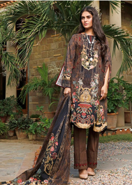 Firdous Fashion Printed Cambric Unstitched 3 Piece Suit FF19W 1A - Winter Collection