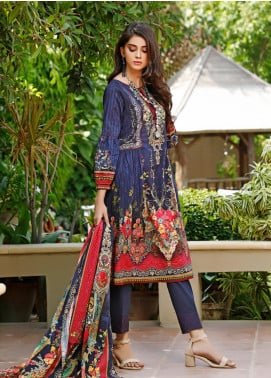 Firdous Fashion Printed Cambric Unstitched 3 Piece Suit FF19W 3A - Winter Collection