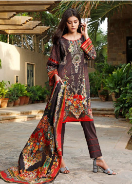 Firdous Fashion Printed Cambric Unstitched 3 Piece Suit FF19W 3B - Winter Collection