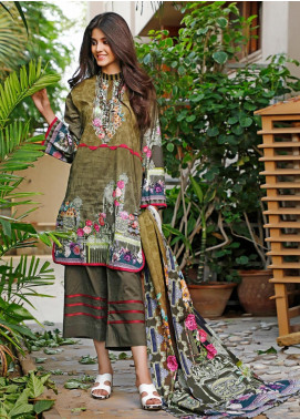 Firdous Fashion Printed Cambric Unstitched 3 Piece Suit FF19W 4B - Winter Collection