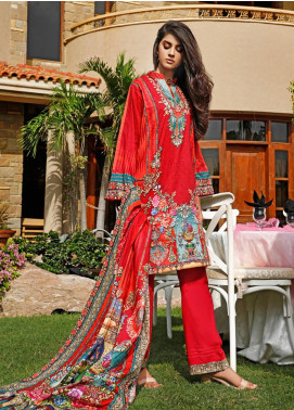 Firdous Fashion Printed Cambric Unstitched 3 Piece Suit FF19W 5A - Winter Collection