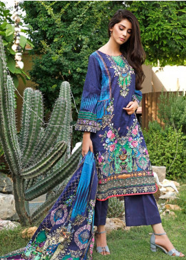Firdous Fashion Printed Cambric Unstitched 3 Piece Suit FF19W 5B - Winter Collection