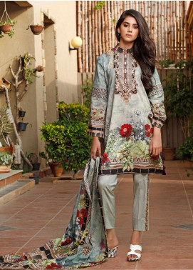 Firdous Fashion Printed Cambric Unstitched 3 Piece Suit FF19W 7A - Winter Collection