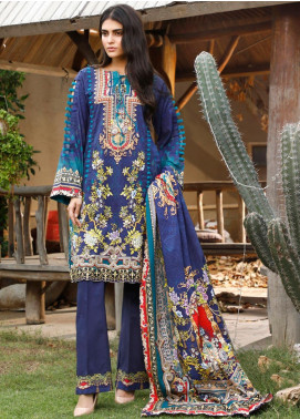 Firdous Fashion Printed Cambric Unstitched 3 Piece Suit FF19W 9A - Winter Collection