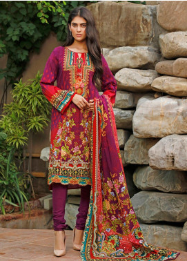 Firdous Fashion Printed Cambric Unstitched 3 Piece Suit FF19W 9B - Winter Collection