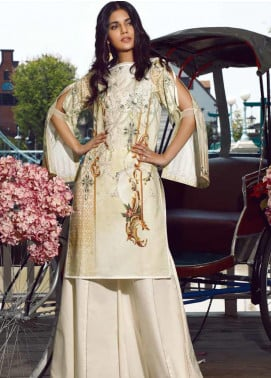 Firdous Fashion Embroidered Cotton Unstitched Kurties FR20SP 19378 - Spring / Summer Collection