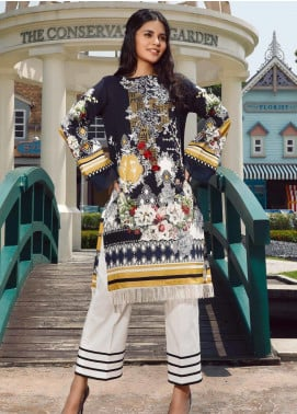 Firdous Fashion Embroidered Cotton Unstitched Kurties FR20SP 19379 - Spring / Summer Collection
