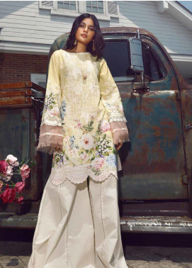 Firdous Fashion Embroidered Cotton Unstitched Kurties FR20SP 19394 - Spring / Summer Collection