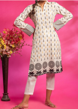 Fitoor Printed Lawn Stitched Kurties BP-002 Off White