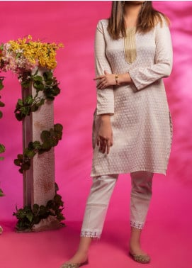 Fitoor Printed Lawn Stitched Kurties BP-009 Fawn