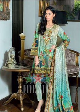 Five Star Printed Lawn Unstitched 3 Piece Suit FSD19L 1319 - Spring / Summer Collection