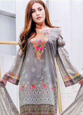 Five Star Printed Lawn Unstitched 3 Piece Suit FS19L 1207C - Spring / Summer Collection