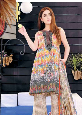 Five Star Printed Lawn Unstitched 3 Piece Suit FS19L 1217B - Spring / Summer Collection