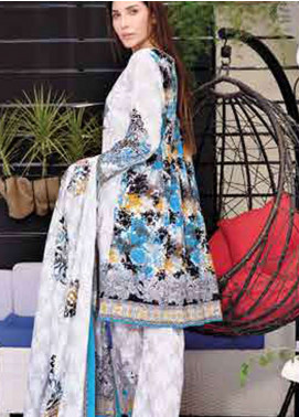 Five Star Printed Lawn Unstitched 3 Piece Suit FS19L 1219B - Spring / Summer Collection